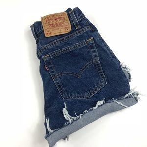 Levi's Shorts - Levi 550 Distressed Denim Shorts Size 8